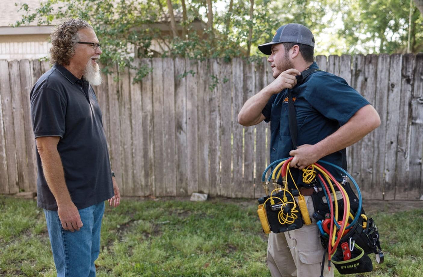 pickett employee talking to a customer