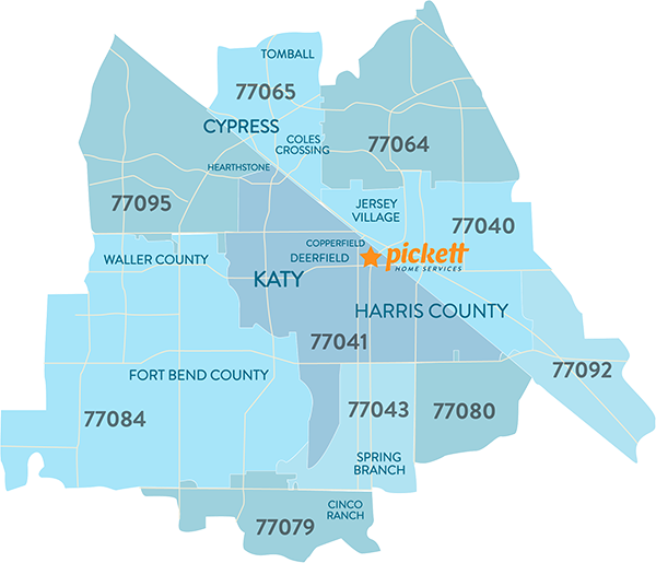 Areas We Serve - Pickett Home Services